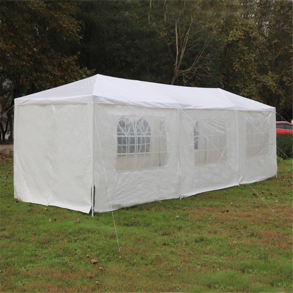 6/X finestre MCTECH 9/x 3/m delle feste gazebo birreria feste Padiglione include 8/pareti laterali impermeabile PE Plane Camping Club tenda 2/X porta con chiusura lampo