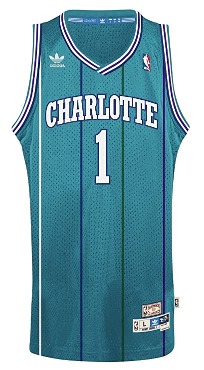 reputable site a0a2a 01e15 Muggsy Bogues Charlotte Hornets Adidas NBA Throwback Swingman Jersey - Teal