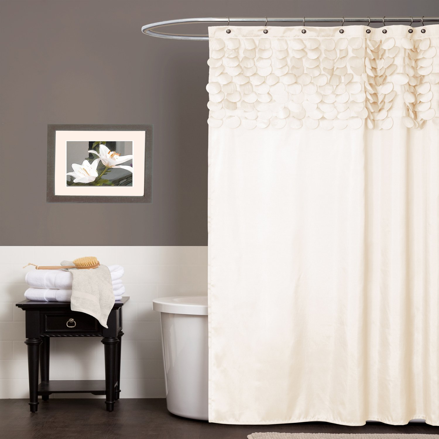 products shower curtain and spa blue gold beige home spablueandgold laural