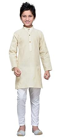 3c4e0839768d Amazon.com  Kids Kurta Pajama Cotton Eid Festival Dress Pant Ethnic ...
