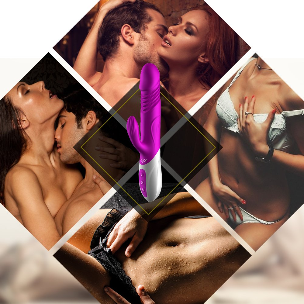 Und stoßfunktion groß xxl Silikon Dildo Vibrator aus Vollsilikon for100% Wasserdich Vibrationen für sie Klitoris 360-Grad-Drehung versenkbare Vibrationen Klitoris Massagegerät stimulierende G-Punkt Klitoris Frauen sexspielzeug klitoris Mass