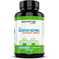 Zenwise Health Digestive Enzymes Plus Prebiotics & Probiotics Supplement, Vegan Formula for Better Digestion & Lactose…