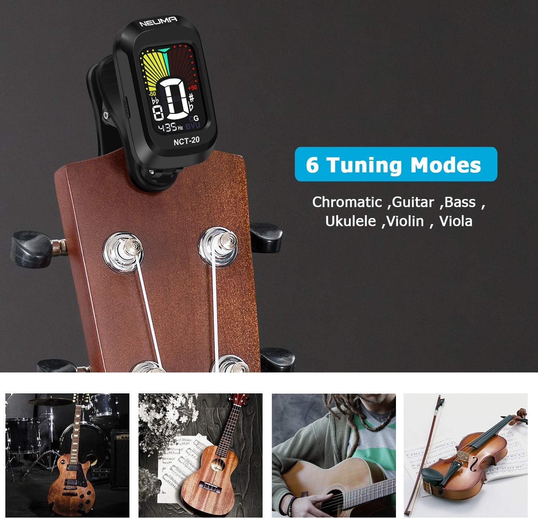 NEUMA Afinador de Guitarra Ukelele Bajo Violín Sintonizador Clip ...