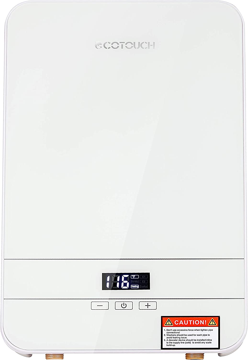 Tankless Water Heater Electric ECOTOUCH 9KW 240V on Demand Water Heater Self-Modulating Instant Hot Water Heater Point Of Use Water Heater ECO90 White