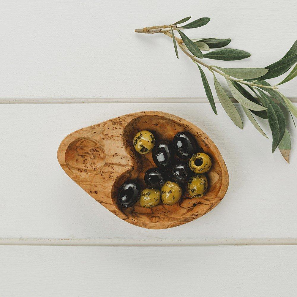18cm Olive Wood Olive Serving Dish Naturally Med NM/OL017