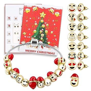 Mädchen Weihnachtskalender.Qinmm Schmuck Adventskalender 2019 24 Tage Mit Armband Countdown