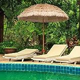 AMMSUN 7.5ft Hula Thatched Tiki Umbrella Hawaiian