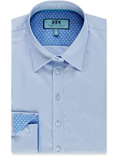 cd7eb05c98f5 HAWES & CURTIS Womens White Textured Semi Fitted Shirt with Contrast ...