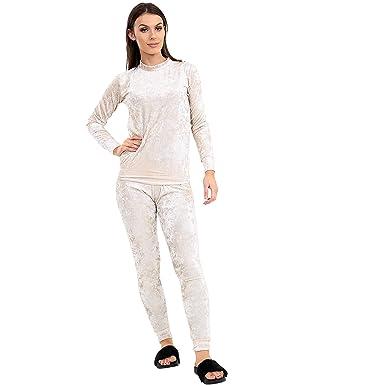 Verso Fashion - Chándal - para Mujer Marfil Crema M/L: Amazon.es ...