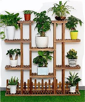 Estanterias para macetas detalle de las macetas en la - Estanteria para plantas ...