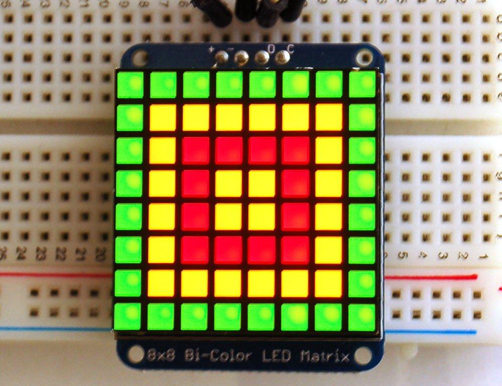 Adafruit Bicolor LED Square Pixel Matrix with I2C Backpack [