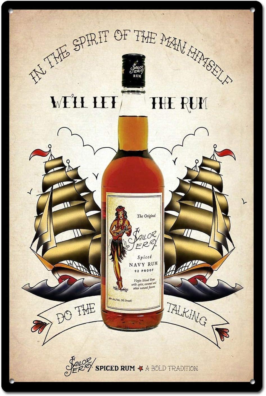 Sailor Jerry Spiced Rum Tin Sign Metal Sign TIN Sign 7.8X11.8 INCH