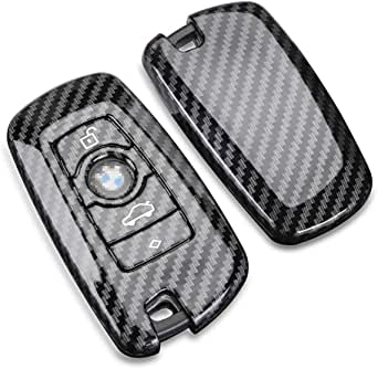 TANGSEN Smart Key Fob Case for Toyota 5 Button Keyless Entry Remote Personalized Protective Cover Plastic Carbon Fiber Texture