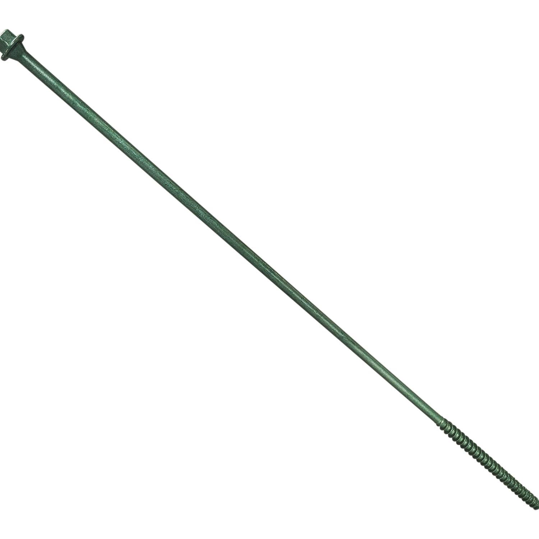 Hard-to-Find Fastener 014973266608 Hex Head Timber Green Screws 5//16 x 12 Piece-30