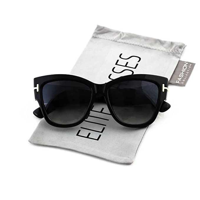 Amazon.com: Elite Cat Eye Anoushka Oversized – Gafas de sol ...