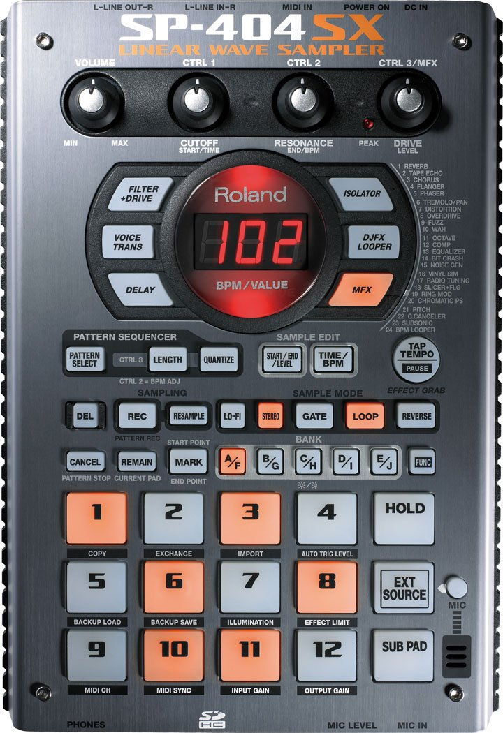 Roland SP-404SX Linear Wave Sampler with DSP Effects by Roland