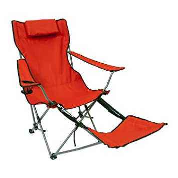 Attirant Mac Sports Folding Bazaar Armchair With Footrest (Red)