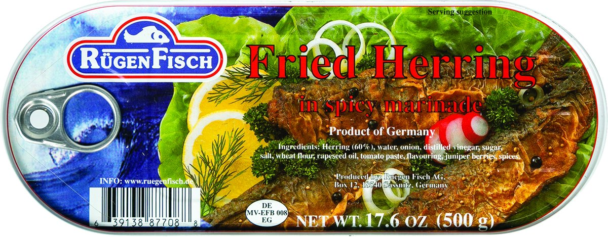 RugenFisch Fried Herring in Marinade, 17.6 Ounce (Pack of 12) by Rugenfisch