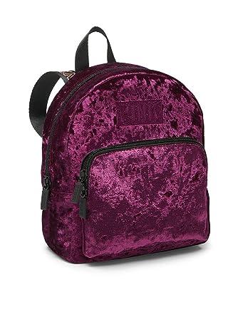 573d5c38efbae Victoria's Secret Pink Mini Velvet Campus Backpack Black Orchid