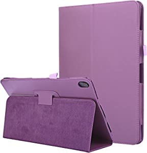 Asng Lenovo TAB E10 Case - Slim Folding Cover with Auto Wake/Sleep for Lenovo TAB E10 (TB-X104F) 10 Inch Tablet (Purple)