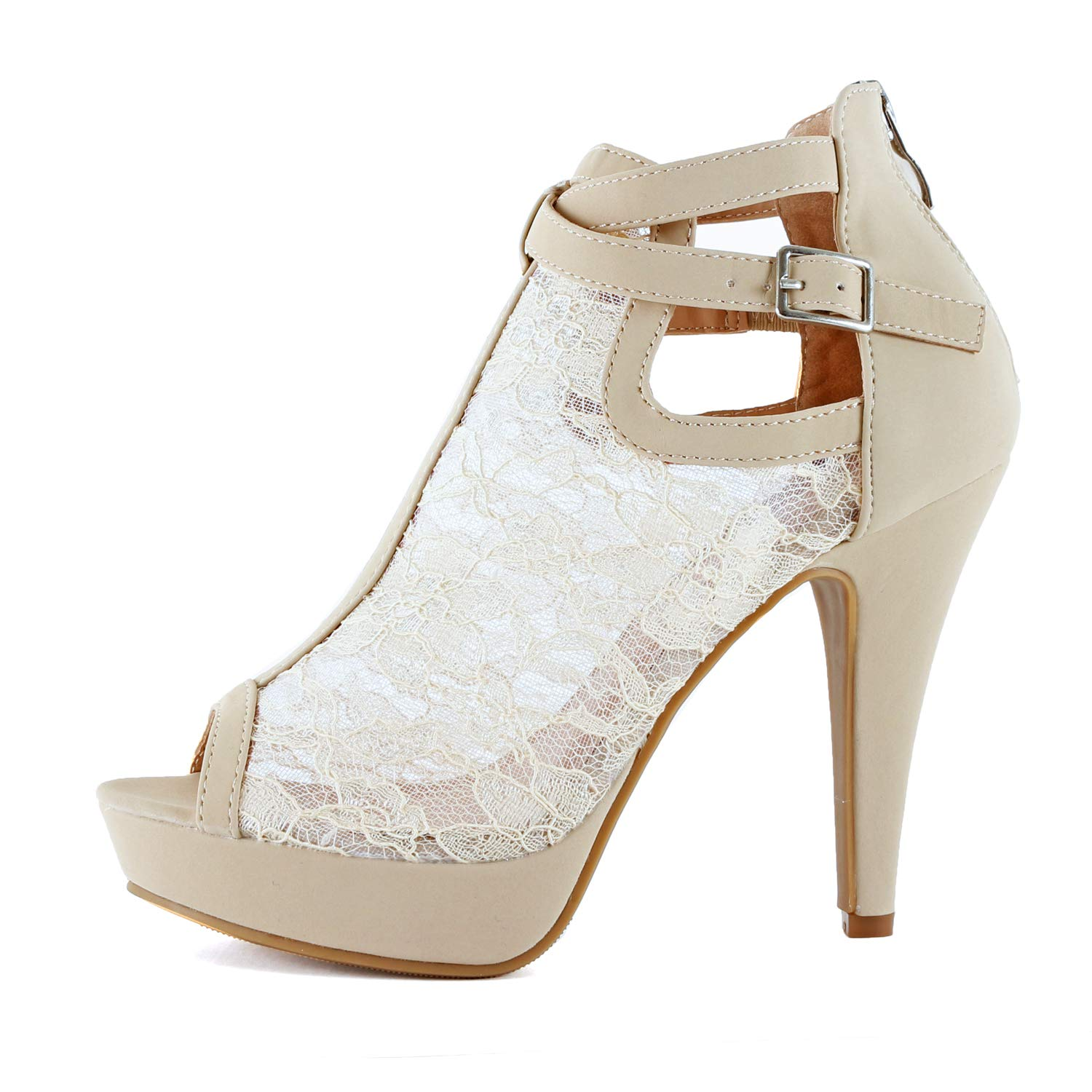 a06bcfe5ed3 Guilty Shoes Womens Cutout Gladiator Ankle Strap Platform Block Heel  Stiletto Sandals
