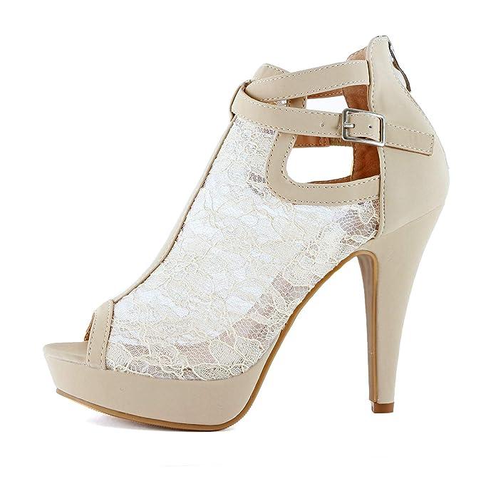e4411acb29 Guilty Shoes Womens Cutout Gladiator Ankle Strap Platform Block Heel  Stiletto Sandals