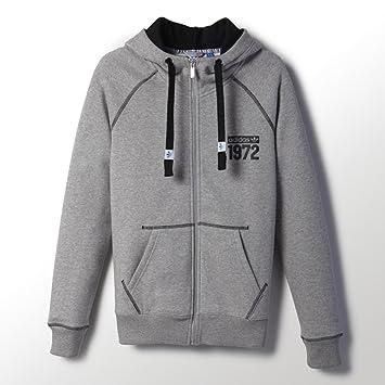 d225736746ad adidas Originals Women s Super Logo Full Zip Hoodie - Grey - 10UK ...