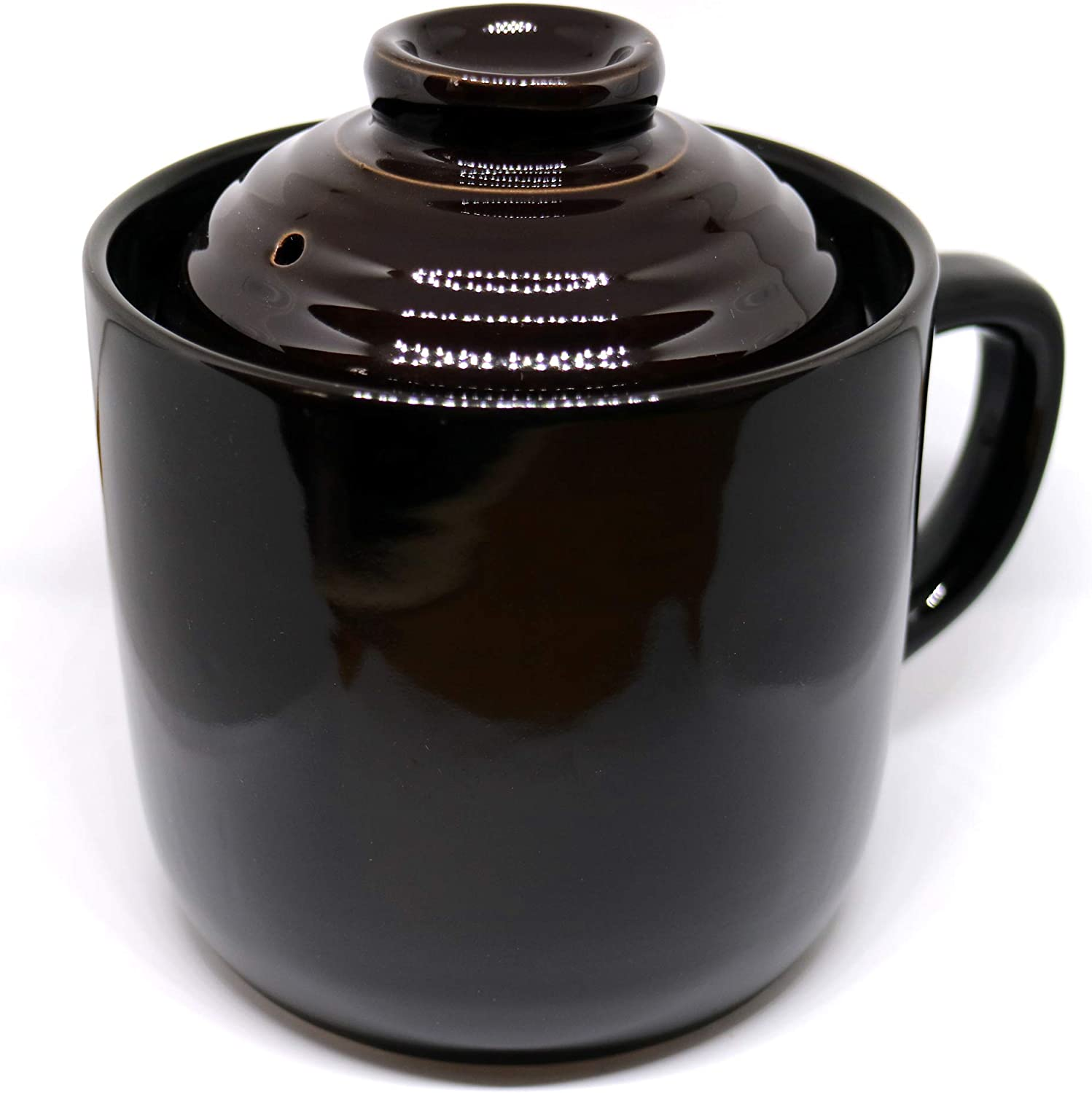 Rice Cooking Mug (Black) for 1 Cup, Microwave Rice Cooker (Japan Import)