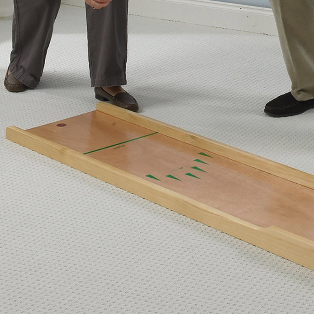 NRS Healthcare Superior Wooden 10 Pin Bowling or Skittles Set - use on Floor or Table