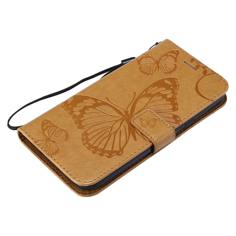H/ülle Leder Handyh/ülle Tasche Leder Flip Case Brieftasche Etui mit Kartenfach Sto/ßfest Kratzfest Schutzh/ülle f/ür LG X Power3 NEXCURIO LG X Power 3 NEKTU13989 Blau