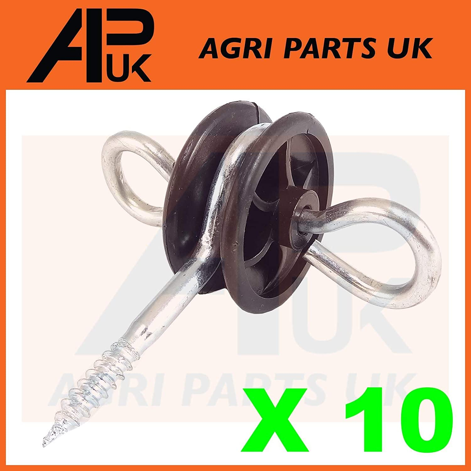 APUK 10 x Electric Fence Gate Handle Insulators Anchors Tape Screw Poly Rope Fencing Agri Parts UK Ltd