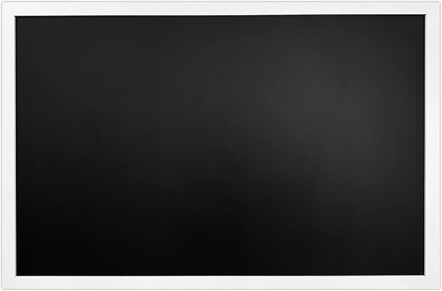 """White Framed Premium Surface Magnetic Large Chalk Board- 24""""x36"""" by Loddie Doddie. Perfect for Chalk Markers and Home Decor"""