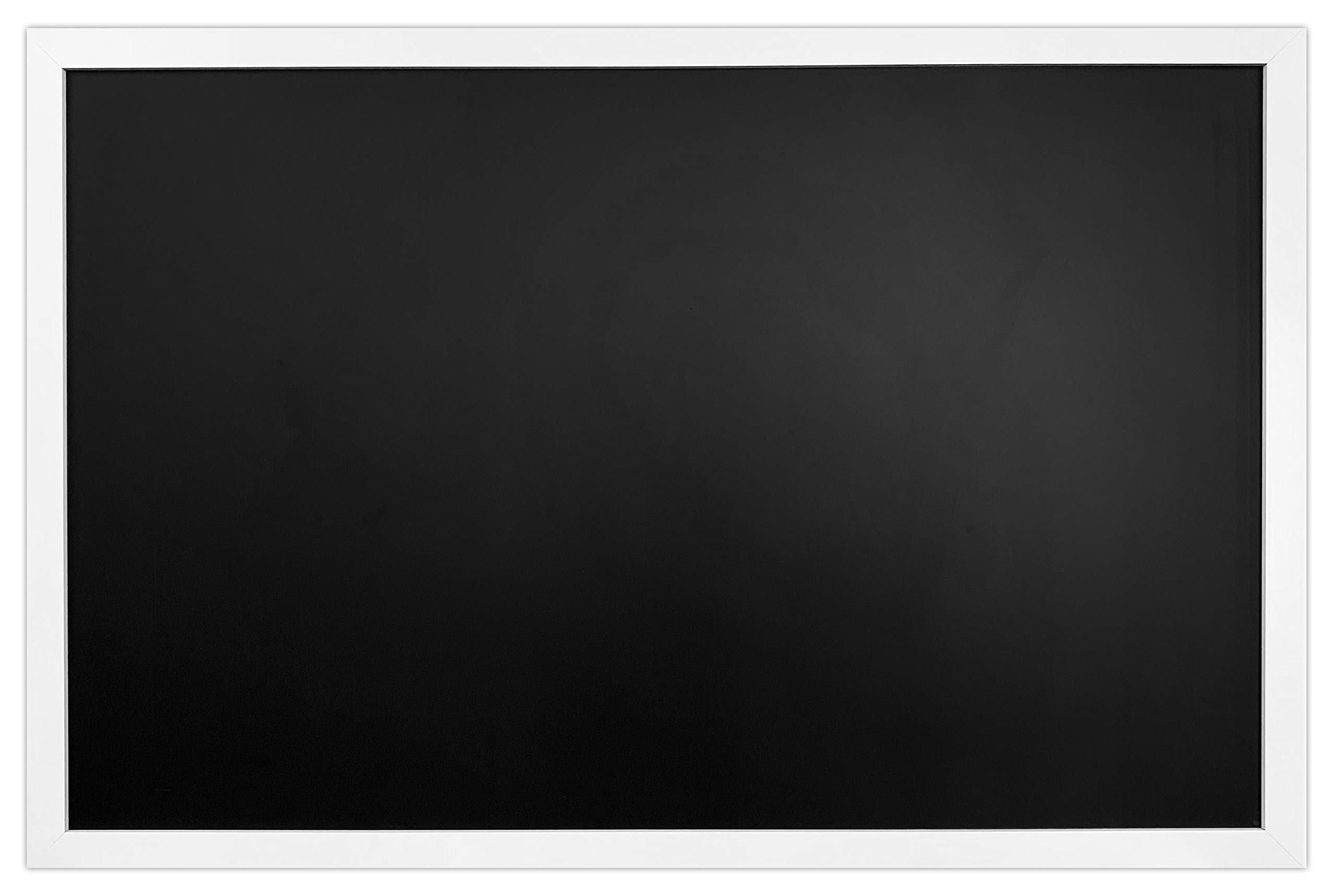 White Wood Premium Surface Magnetic Large Chalk Board- 24''x36'' Perfect for Chalk Markers and Home Decor