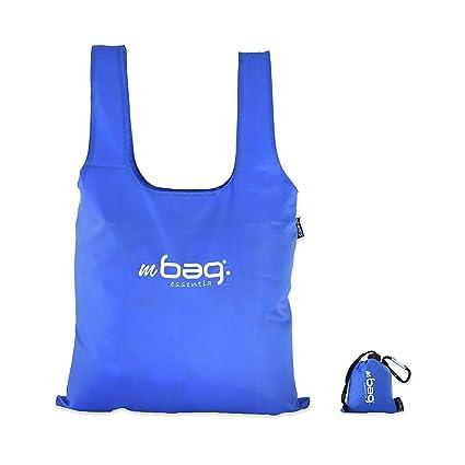 mbag essentia Bolsa Compra Reutilizable Plegable, Bolsa Supermercado Resistente Compacta y Ecológica, 15 litros, 62 x 43 cm. Polyester 100%, 4 Colores ...
