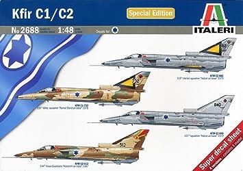 Italeri 2688S - Kit de maquetas de aviones de guerra Kfir C1 ...