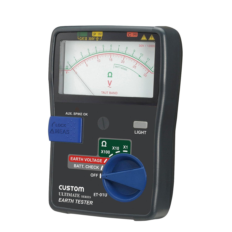 カスタム (CUSTOM) アナログ接地抵抗計 3線式/2線式両対応型 ET-01U B00ZFIE6Z2
