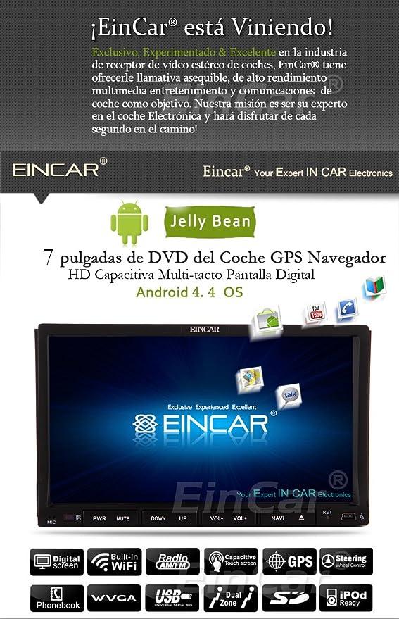 EinCar Android 4.2 coches reproductor de DVD 2 din WIFI HD Capactive de la pantalla tš¢ctil Multi-Touch estšŠreo GPS del coche de Bluetooth Radio Všªdeo ...