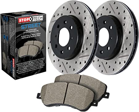 Stoptech 938.58003 Street Axle Pack Drilled /& Slotted Front