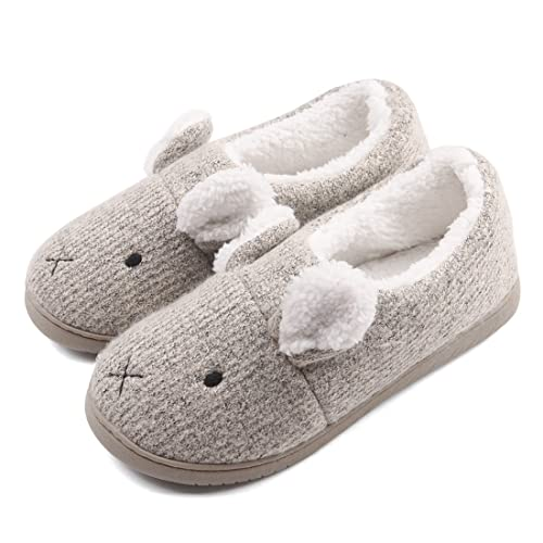 eb7ef32d88c Neeseelily Women Comfort Plush Cozy Home Slippers Animal Non Slip Indoor  Shoes (6.5-7B
