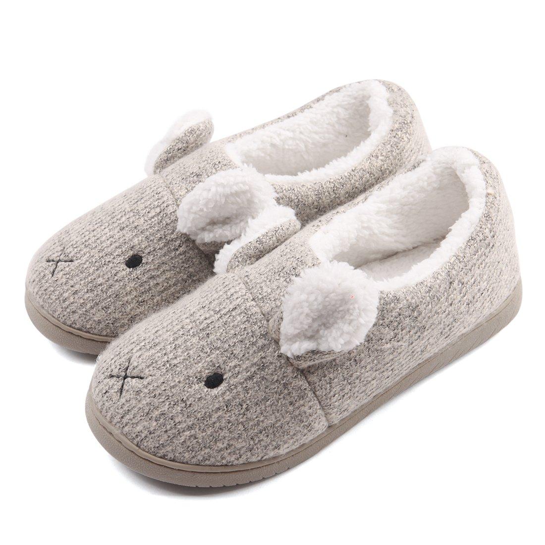 Women Comfort Plush Cozy Home Slippers Non Slip Indoor