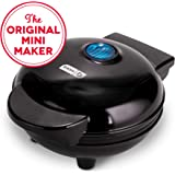 Dash DMS001BK Mini Maker Electric Round Griddle for Individual Pancakes, Cookies, Eggs & other on the go Breakfast, Lunch & Snacks with Indicator Light + Included Recipe Book - Black