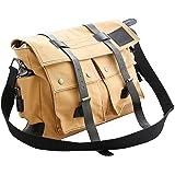 Vintage Military Laptop Heavy Duty K-Cliffs RT107 Olive Classic Canvas Messenger Bag