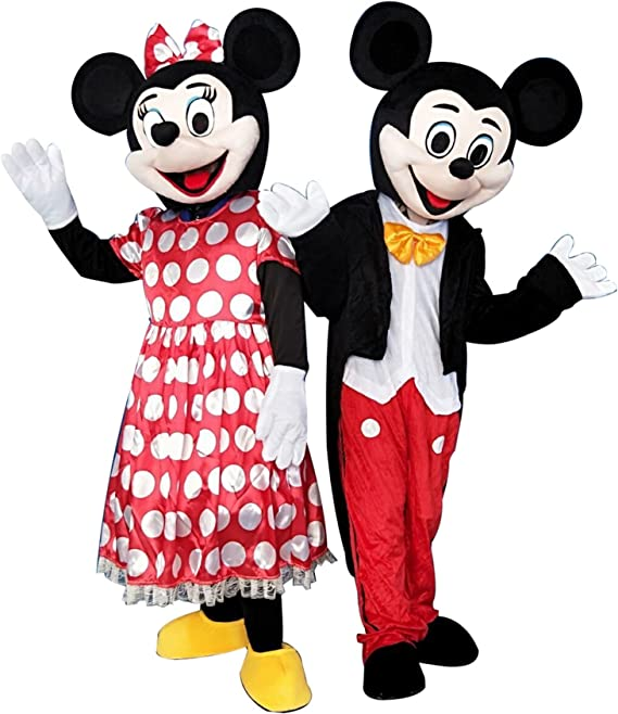 SinoOcean - Disfraz de Mickey Mouse y Minnie Mouse para adultos ...