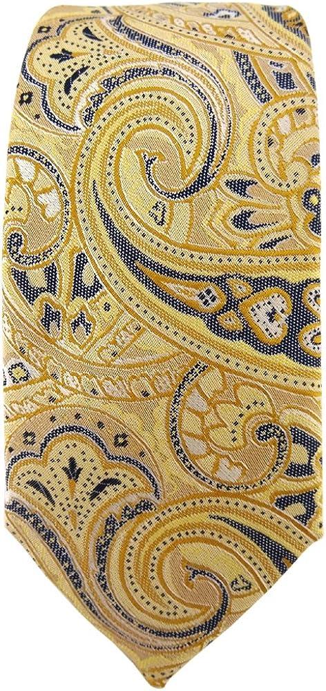TigerTie - corbata estrecha - amarillo oro beige amarillo-arena ...