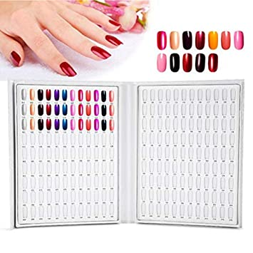 Amazon Nail Color Chart Display Book Bestgift 216 Colors Nail