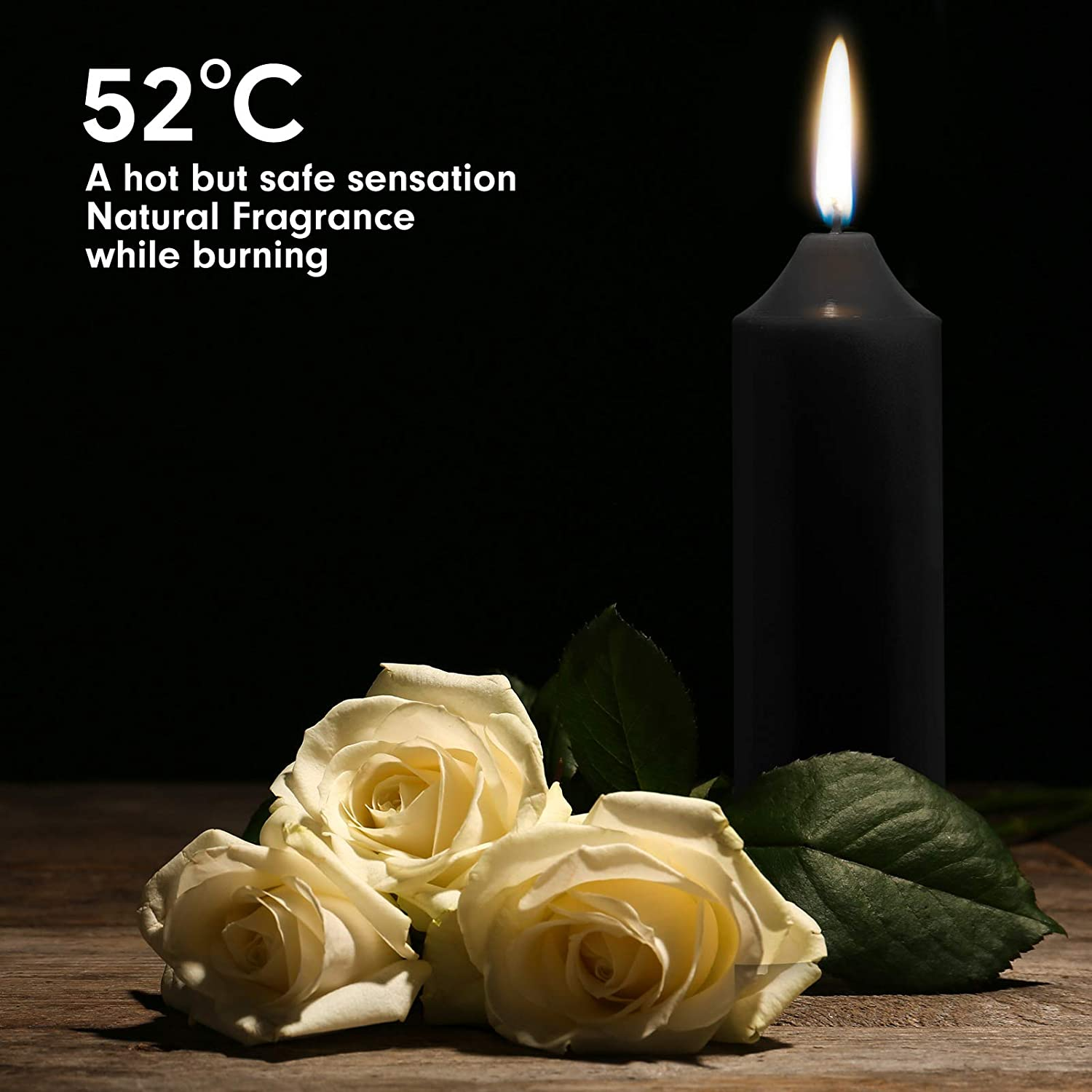 Wedding Home Decoration-Purple Upgraded MANFLY Low Temperature Candles Low Heat Romantic Candles Wax for Couples