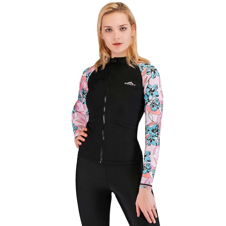 SBART Damen Langarm Neoprenanzug Shirt Tauchen Schwimmen Surfen UV Rashguard Tops