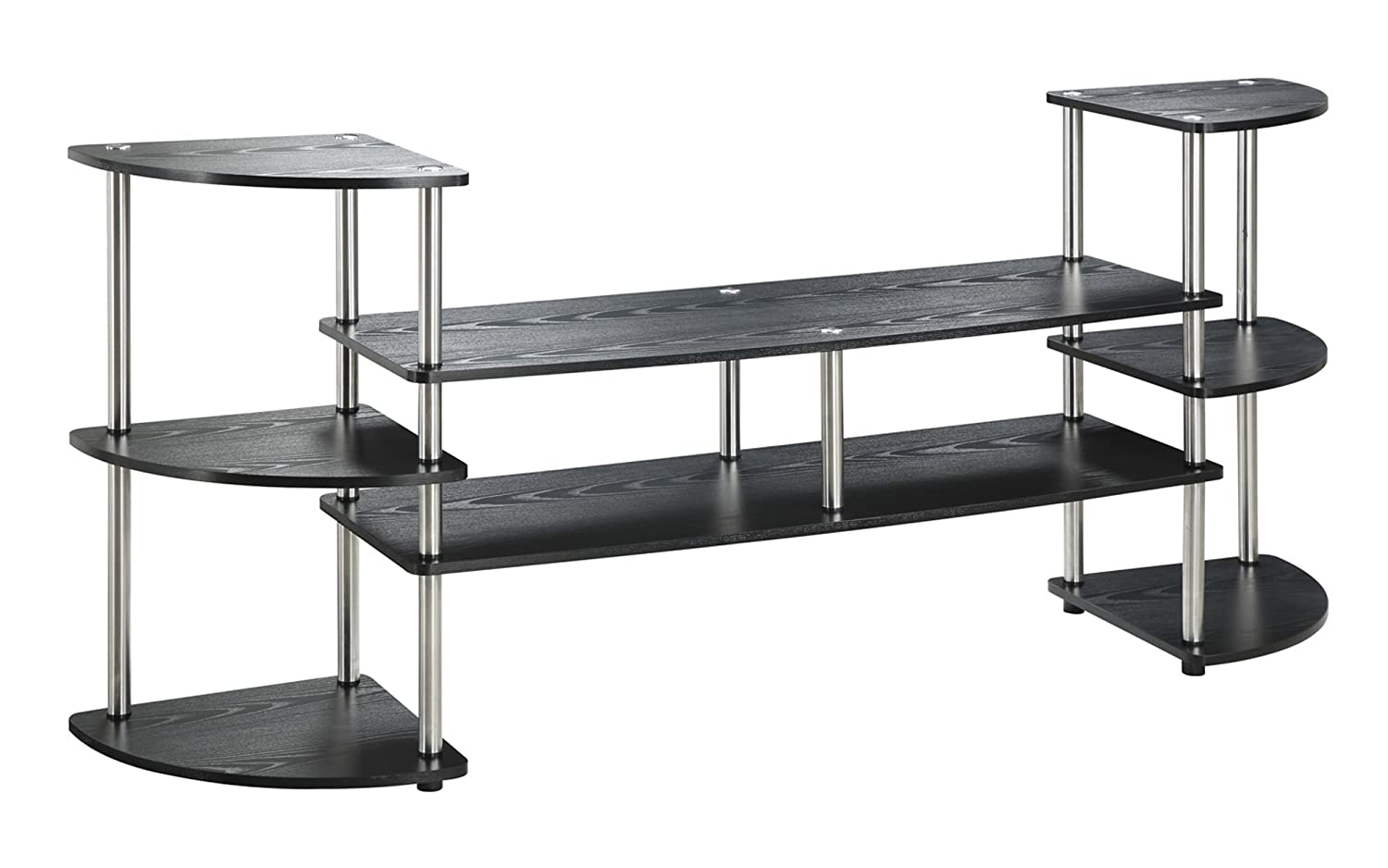 Convenience Concepts Designs2Go Multi Level TV Stand, X-Large, Black