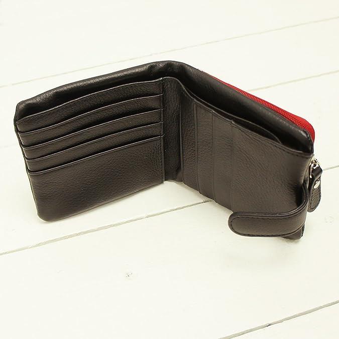 31324812451f Amazon | [イーモノ] e-mono 本革 二つ折り財布 ツートンカラー 袋縫い (ネイビー×ピンク) [ウェア&シューズ] | 財布