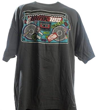 153bfa14ce6da1 Blink 182 - Crappy Punk Rock Grey Band T-Shirt  Amazon.de  Bekleidung
